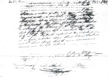 Pierre Hacker's death certificate