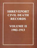 Shreveport Civil Death Records Vol. II